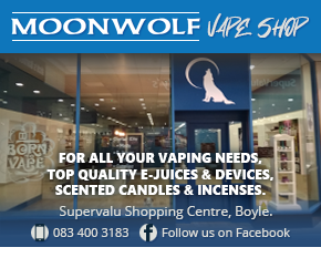 Moonwolf Vape Shop, Boyle