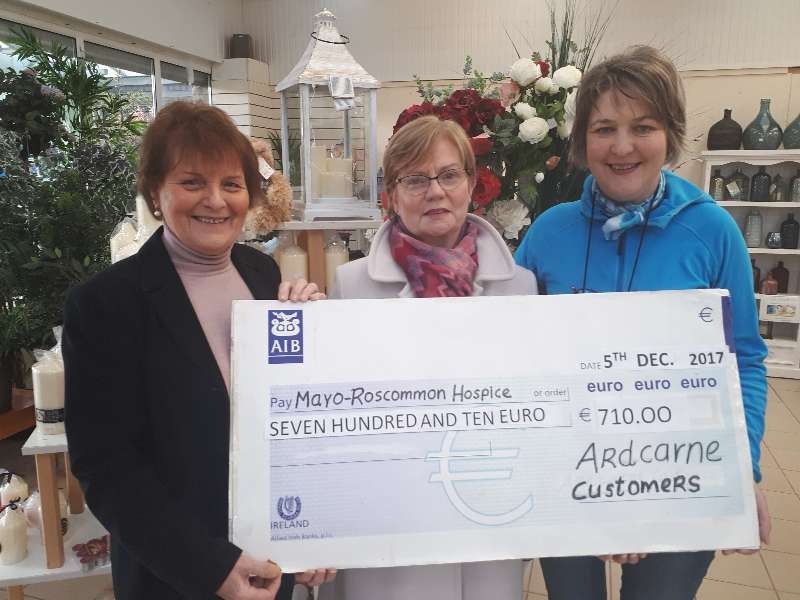 Photo of Cheque presentation to Hospice