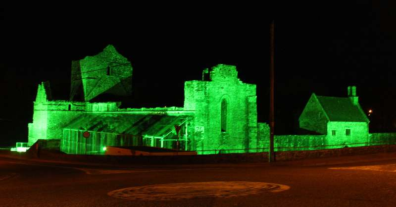 Photo of Boyle Abbey goes green for the week