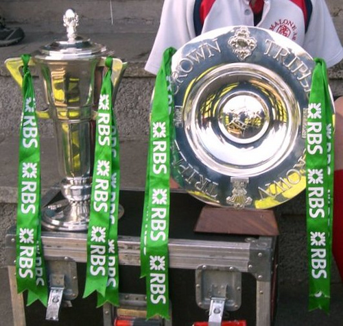 Photo of Rugby trophies in Boyle today