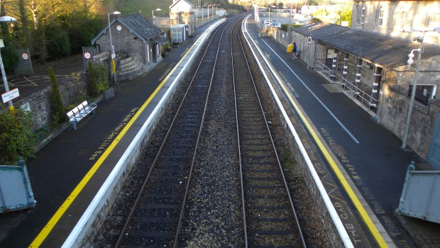 Photo of Man removed from train in Boyle after fire