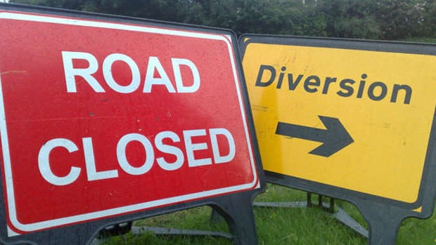 Photo of Knockarush road closure from today