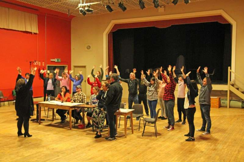 Photo of Sister Act rehearsals continue