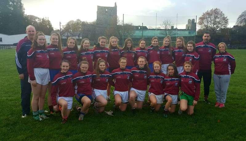 Photo of U16 girls in county final tonight