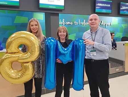 Photo of Irene is eight millionth passenger