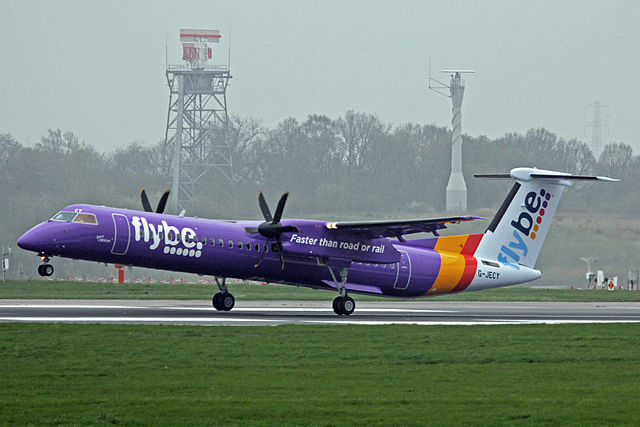 Photo of Flybe flies as normal from Knock