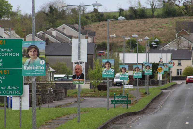 Photo of Posters pose problems in Boyle