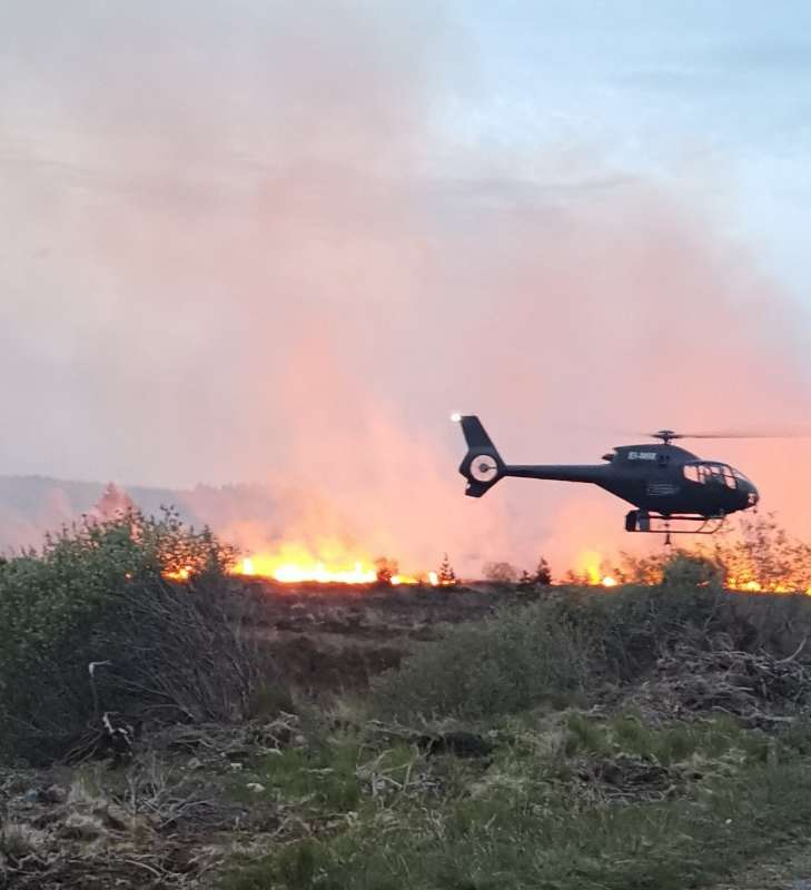 Photo of Cloonfinglis gorse fire under control