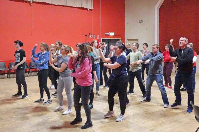 Photo of 'Sister Act' rehearsals continue