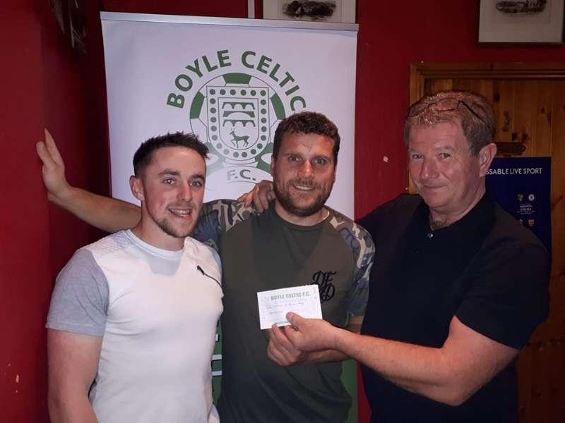 Photo of Ryan & Dessie win €1505 Celtic draw