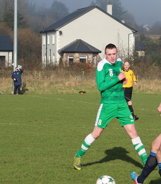 Photo of Mick in Republic of Ireland action