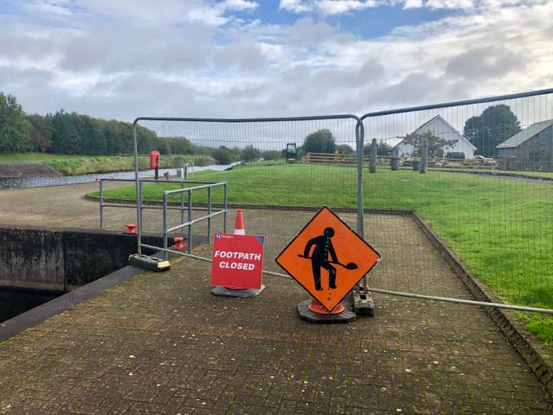 Photo of Pedestrian access closed along canal