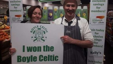 Photo of Sinead wins €1455 50/50 draw