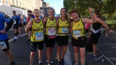 Photo of Local athletes in Dublin City Marathon