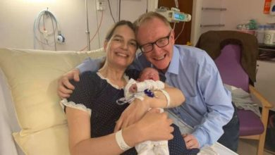 Photo of Senator Feighan welcomes his new son