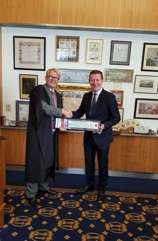Photo of Freedom of London for Boyle man