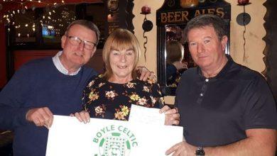 Photo of Anna wins Boyle Celtic 50/50 draw