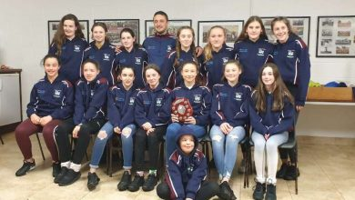 Photo of Training tops presented to Boyle girls