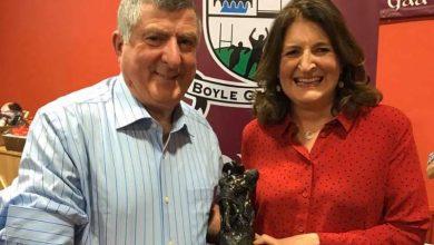 Photo of Seamus is Boyle GAA Hall of Fame winner