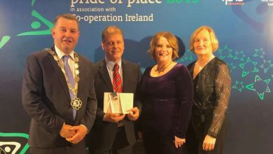 Photo of Runner up award for Boyle in Pride of Place awards