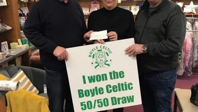 Photo of Brian wins €1775 Celtic 50/50 draw
