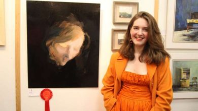 Photo of Sian Costello takes part in Sky Portrait Artist of the Year