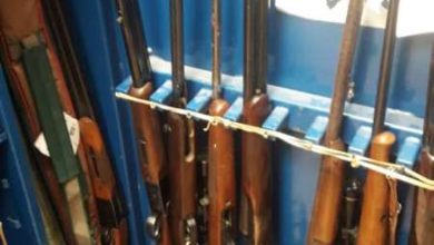 Photo of Ten unlicensed firearms seized by local Gardai