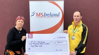 Photo of Cheque presentation to MS Ireland