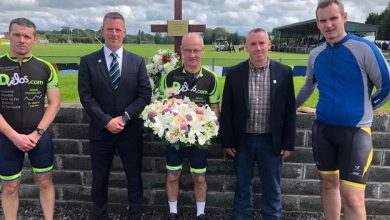 Photo of Boyle cyclists raise €13,000 for North West Hospice