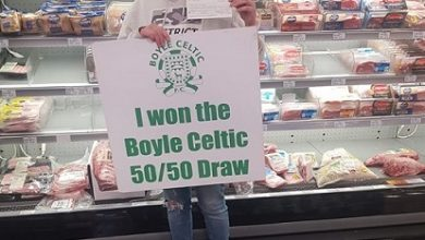 Photo of Sinead wins €1,275 Boyle Celtic 50/50 draw