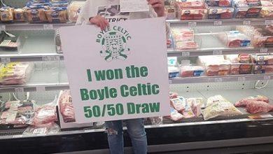 Photo of Sinead wins €1,275 Boyle Celtic 50/50 draw